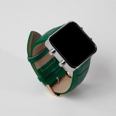 Digital Watch | Silver, Green