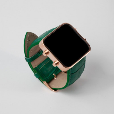 Digital Watch | Gold, Green