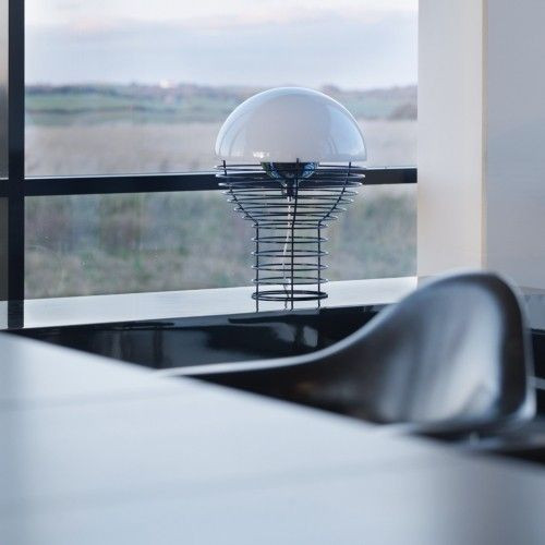 Wire Table Lamp White