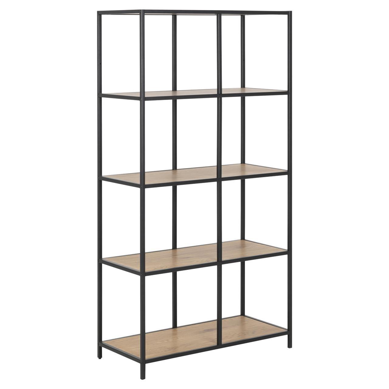 Bookcase Stanley Tall   Black / Oak