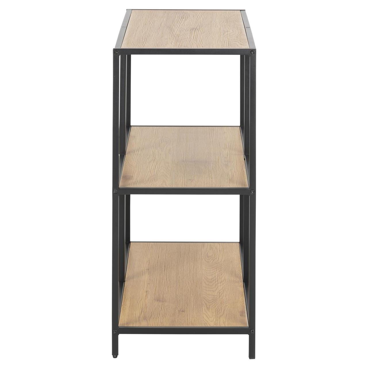 Bookcase Stanley 1 Shelf | Oak/Black