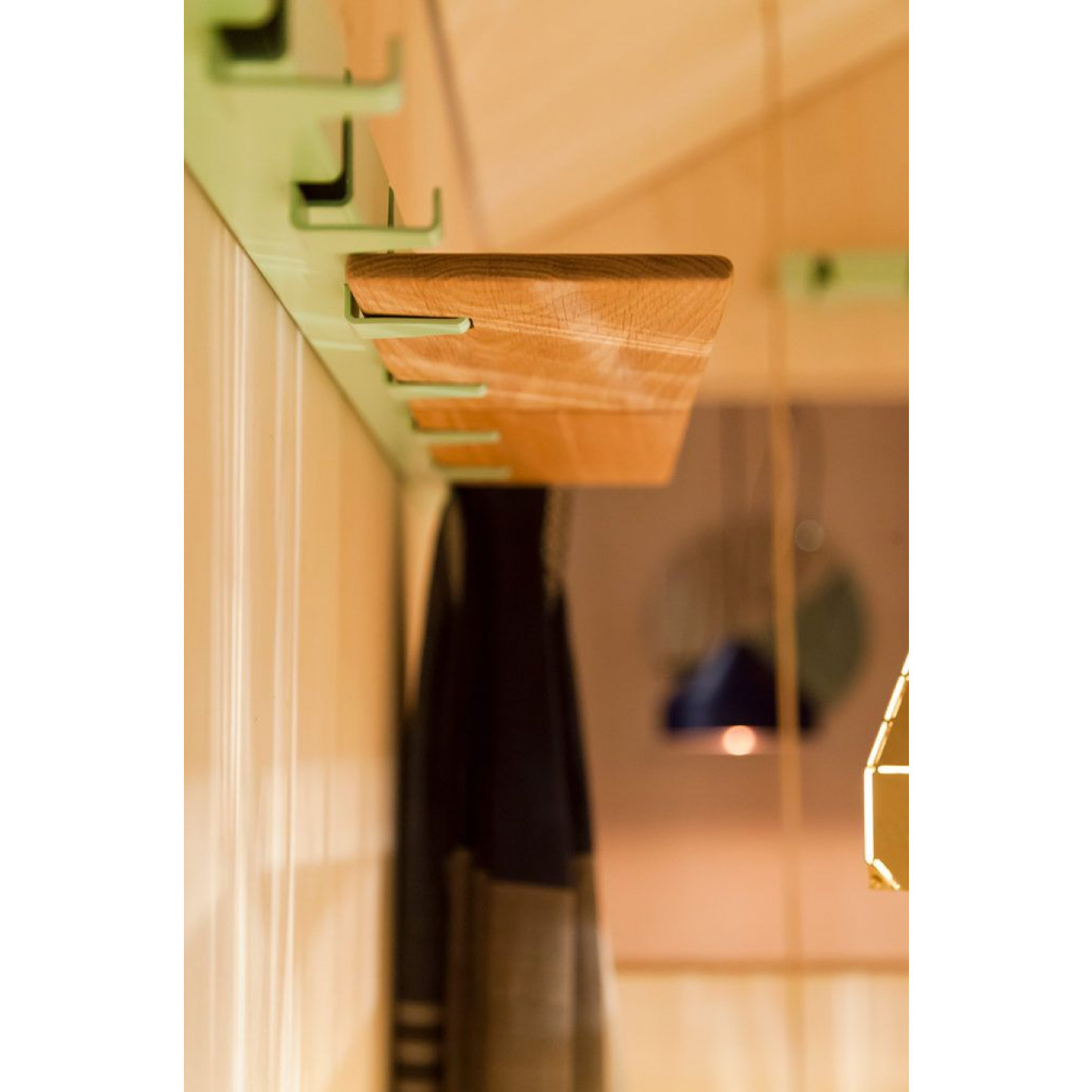 Small Family Coatrack by the Meter   Black
