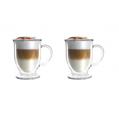 2-er Set Latte-Doppelwandgläser 250 ml | Amo