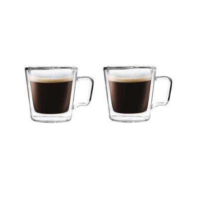 2er-Set Espressotassen Doppelwandglas 80 ml | Diva