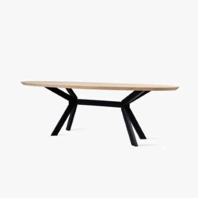 Dining Table Albert Ellipse | Natural Oak Table Top