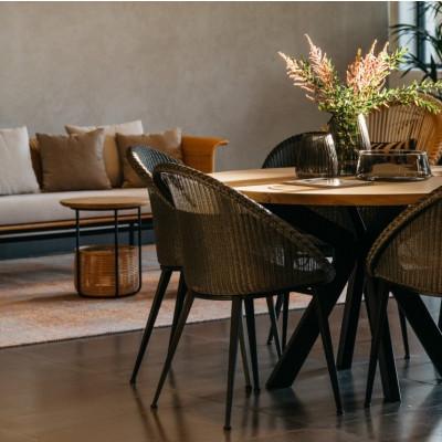 Round Dining Table Albert | Smoked Oak Oil