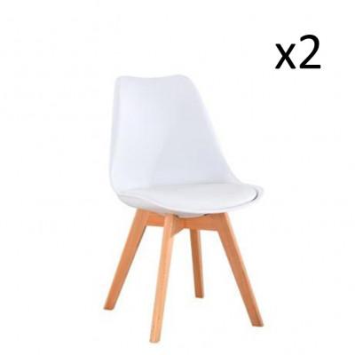 Stuhl Vintage 2er-Set | Weiß