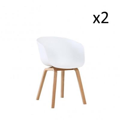 Stuhl Vintage 21 2er-Set | Weiß