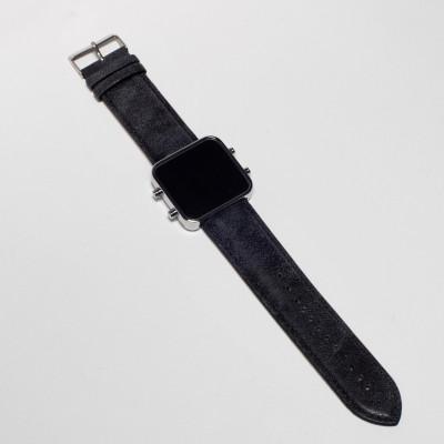 Digital Watch | Silver, Vintage Blue and Black Bracelet