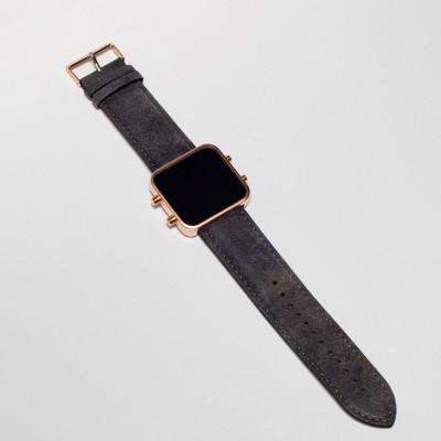 Digital Watch | Rose Gold, Vintage Grey Bracelet