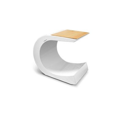 Hocker/Tisch-Vire | Weiß