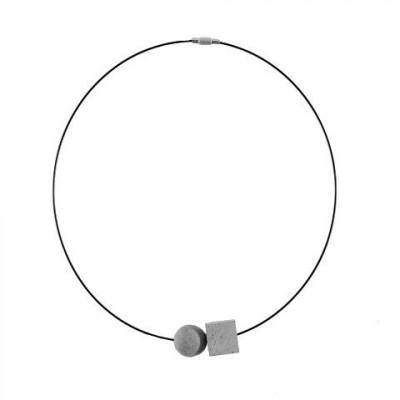 Halskette VISION | Grau & Schwarz