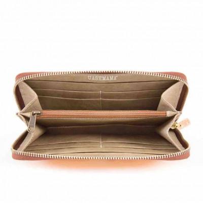 Metallic Zip Wallet Vita | Platinum