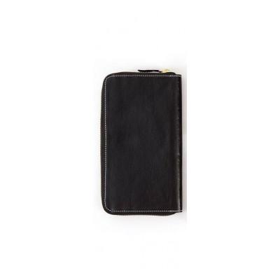 Metallic Zip Wallet Vita | Black