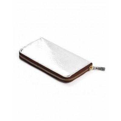 Metallic Zip Wallet Vita | Silver