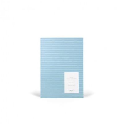 Vita Soft Cover Paper Notebook Medium   Steel Blue