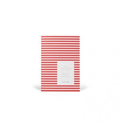 Vita Soft Cover Paper Notebook Small   Bright Red