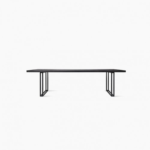 Dining Table Achille Square Base | Black Varnished Table Top
