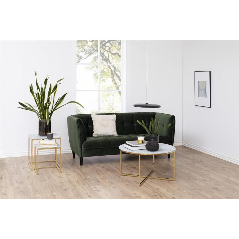 Coffee Table Ali Ø 80 | Black Marble