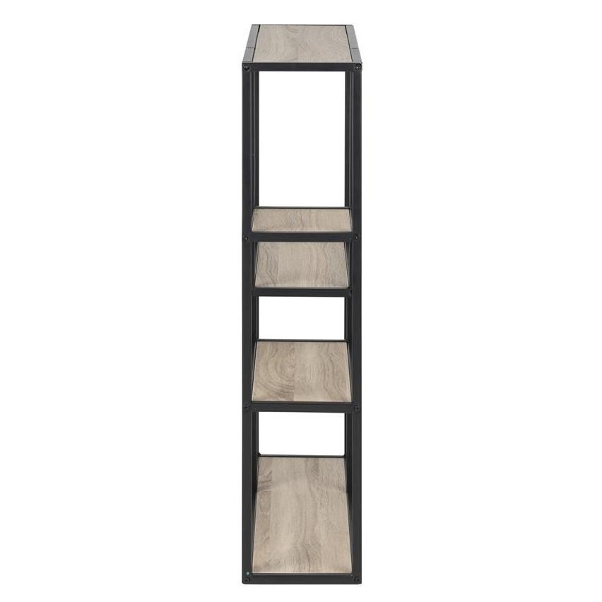 Bookcase Stanley Low   Oak / Black