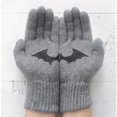 Handschuhe Fledermaus   Hellgrau