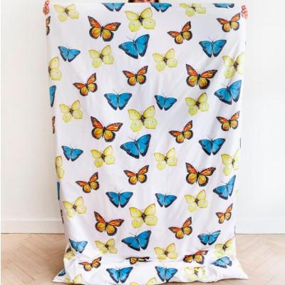Butterfly Blue Print Bed Linen