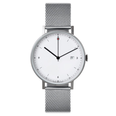 Uhr PKG01 | Silber/Stahl/Weiß