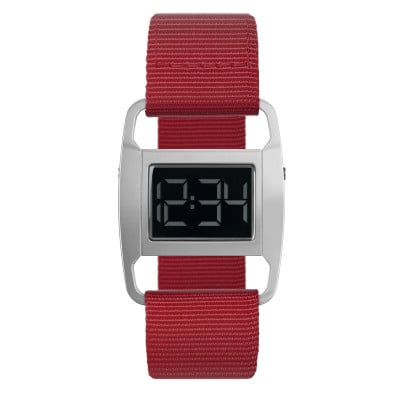 Uhr PXR5 | Silber/Rot
