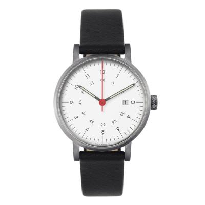 Uhr V03D | Silber/Schwarz/Weiß