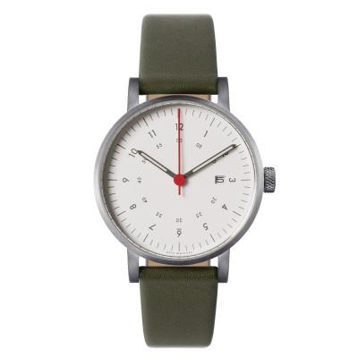 Uhr V03D | Silber/Olive/Weiß