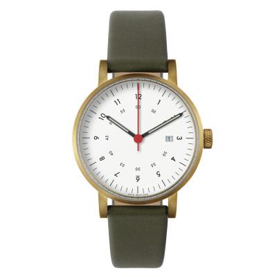 Uhr V03D | Gold/Olive/Weiß