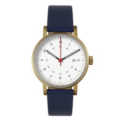 Uhr V03D | Gold/Royalblau/Weiß
