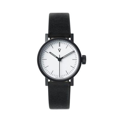 Uhr  V03P Petite | Schwarz/Schwarz/Weiß