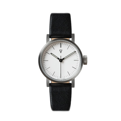 Uhr V03P Petite | Silber/Schwarz/Weiß