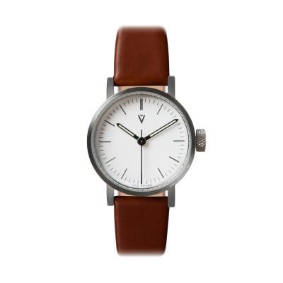 Uhr V03P Petite | Silber/Hellbraun/Weiß