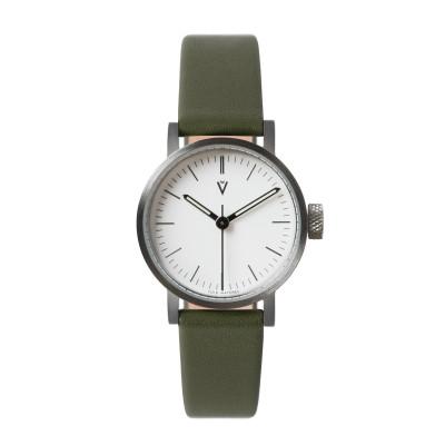 Uhr V03P Petite | Silber/Olive/Weiß