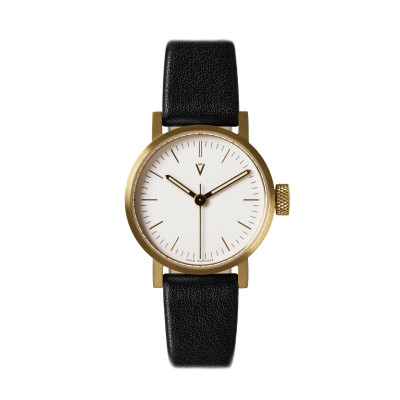 Uhr V03P Petite | Gold/Schwarz/Weiß