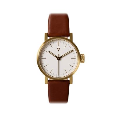 Uhr V03P Petite | Gold/Hellbraun/Weiß