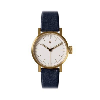 Uhr V03P Petite | Gold/Blau/Weiß