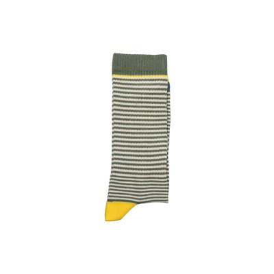 Unisex-Socken   Mehrstreifen-Khaki