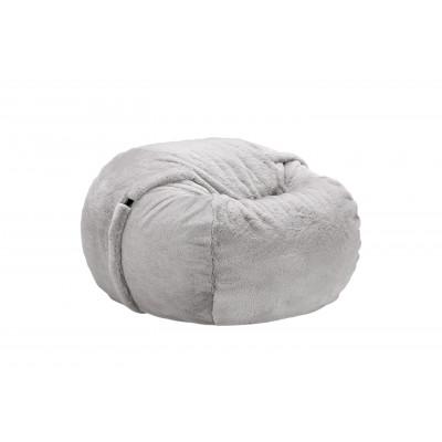 Sitzsack Kunstpelz | Grau