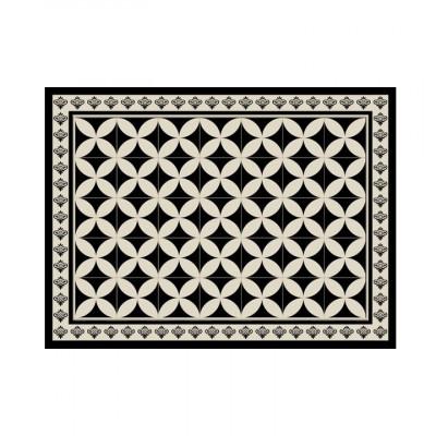 4er-Set Tischmatten Mosaik | Hydra Schwarz Vinyl
