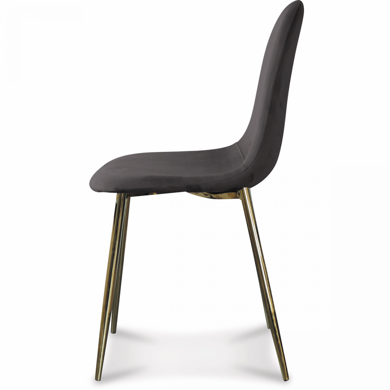 Chaise Josef Velours | Anthracite/Or
