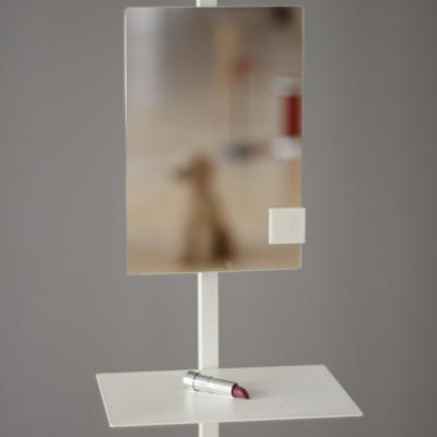 Spiegel für Garderobenständer | Weiß