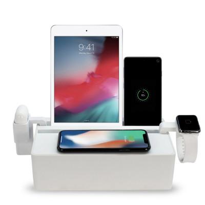 Qi-Wireless Ladestation + Zubehörsatz Apple | Weiß