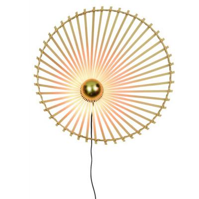 Wandleuchte Bromo Asymmetrisch 60 cm | Natur