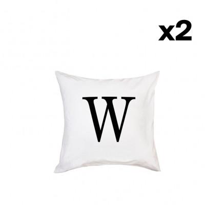 2er-Set Kissenbezügen | W