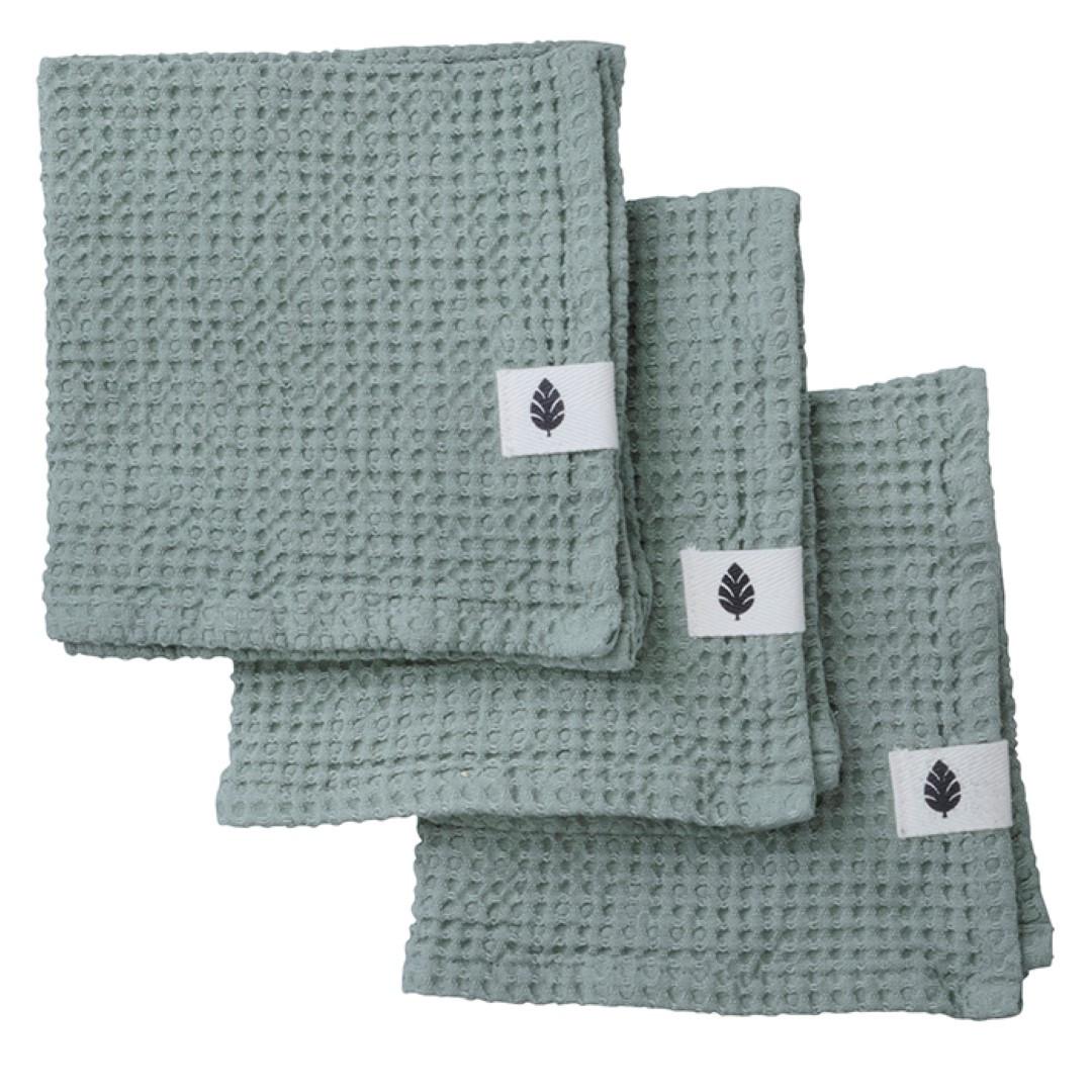 Set de 3 Serviettes de Toilette Waffly | Ivy