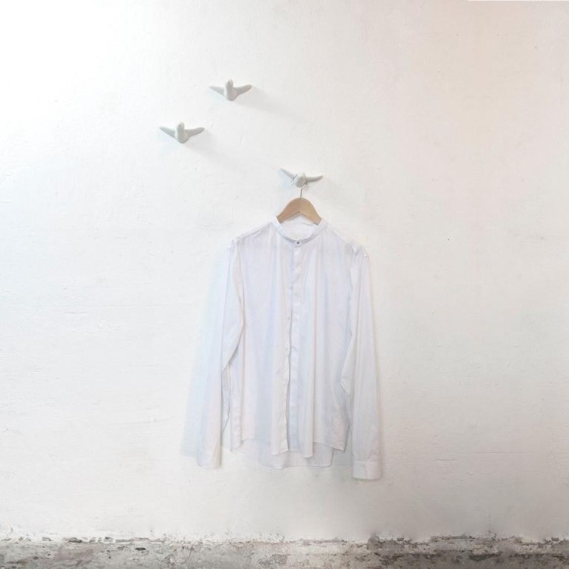 Wandhaken Vogel Satz von 3 | Weiß