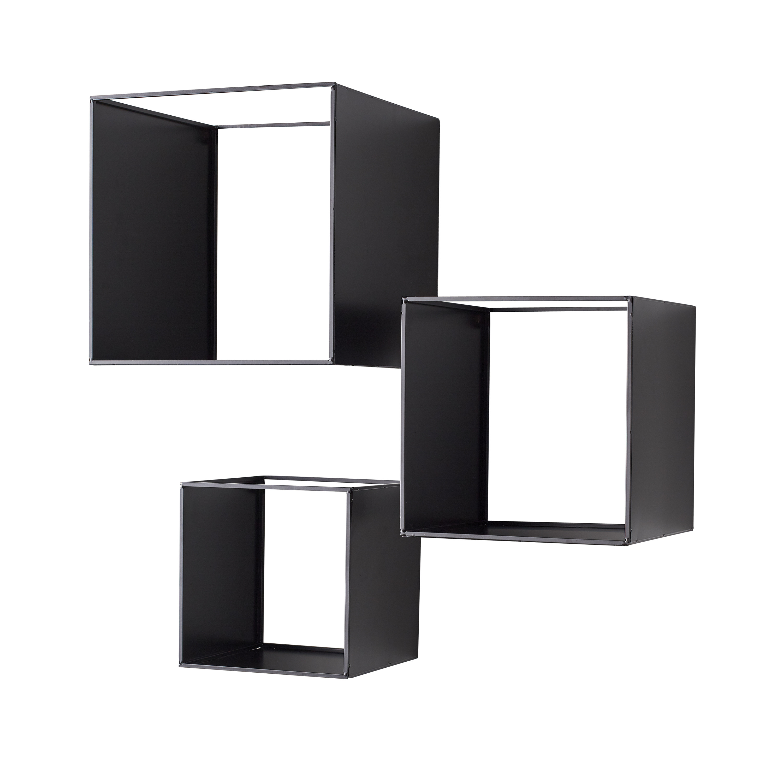 Wall Shelves Set of 3   Black